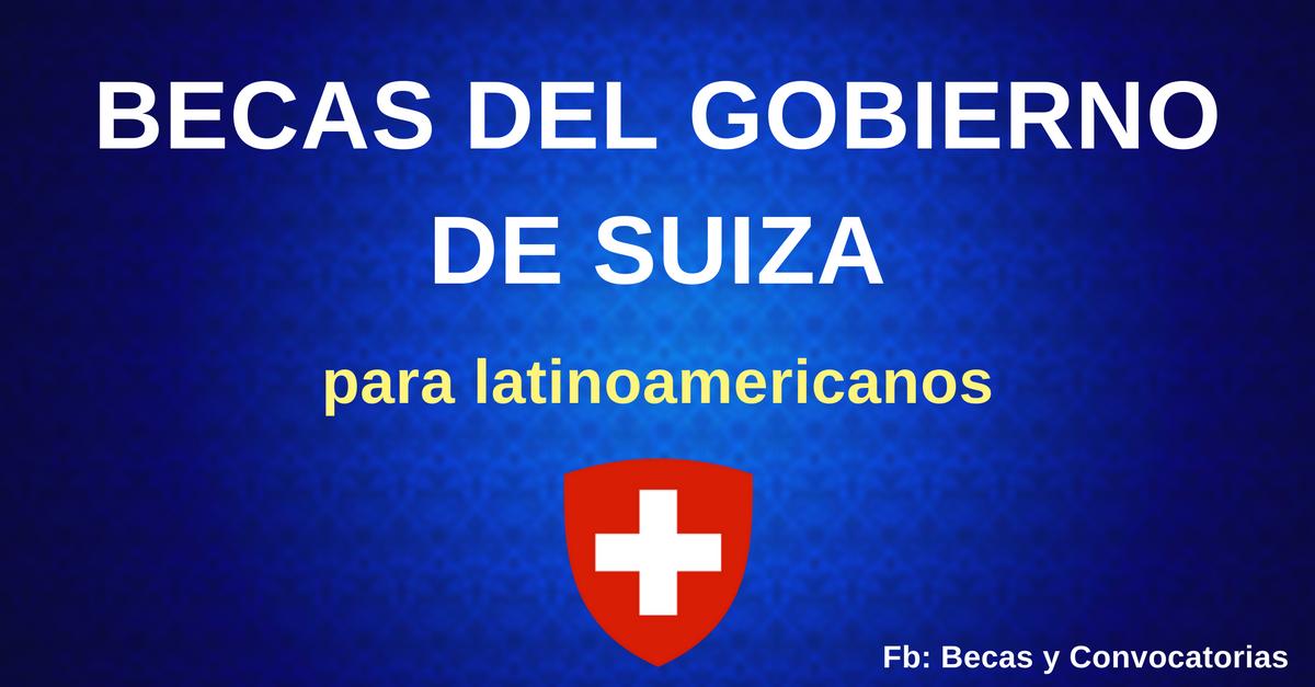 becas en suiza para latinoamericanos