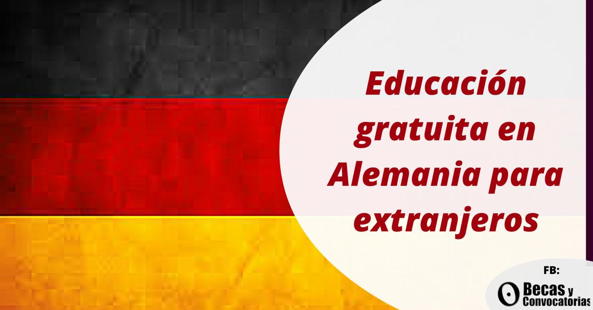 Alemania educación gratuita para extranjeros