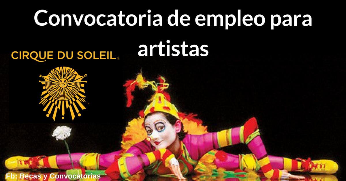 Ofertas de empleo en el Circo del Sol para bailarines y artistas latinos