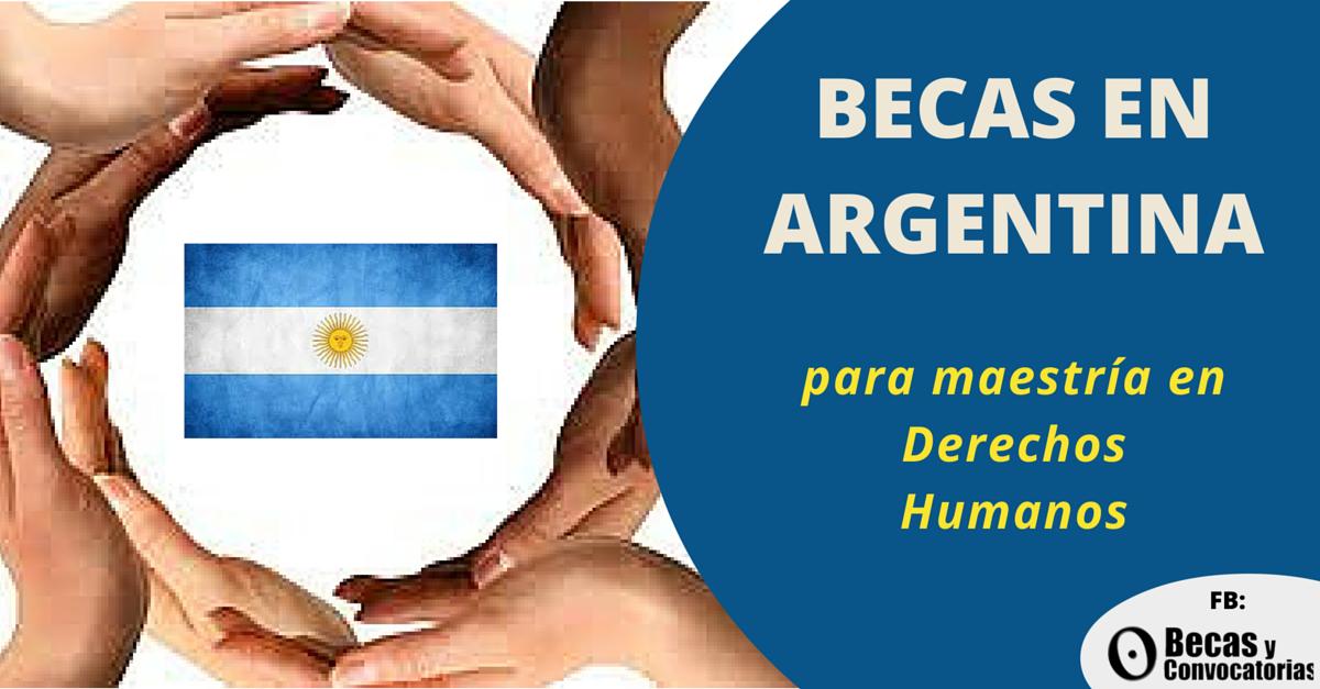 Becas para maestría en Derechos Humanos y Democratización - Argentina