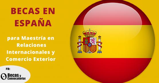 Becas en España para maestría en Relaciones Internacionales y Comercio Exterior