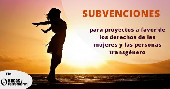 Subvenciones para proyectos a favor de las mujeres y los transexuales