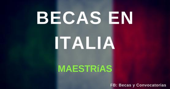 En Italia, Becas para maestrías