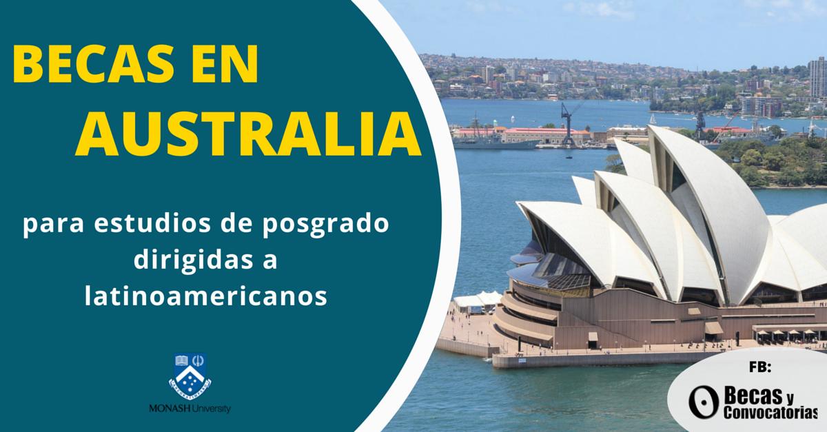estudios de posgrado para latinoamericanos en australia
