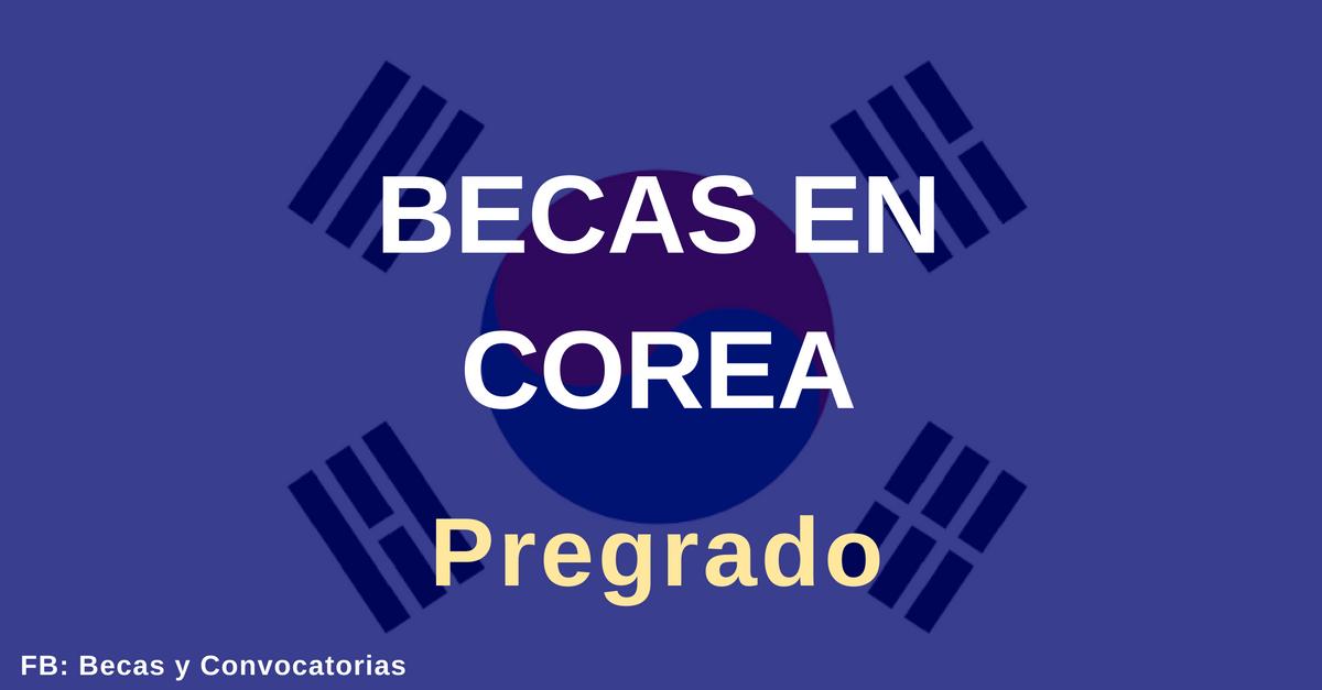 becas pregrado en corea para extranjeros