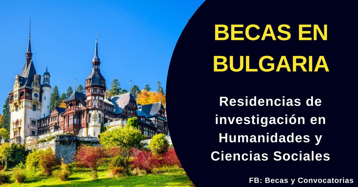 Becas de investigación Bulgaria