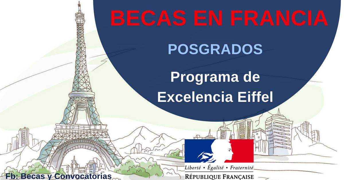 becas para estudiar en Francia Eiffel