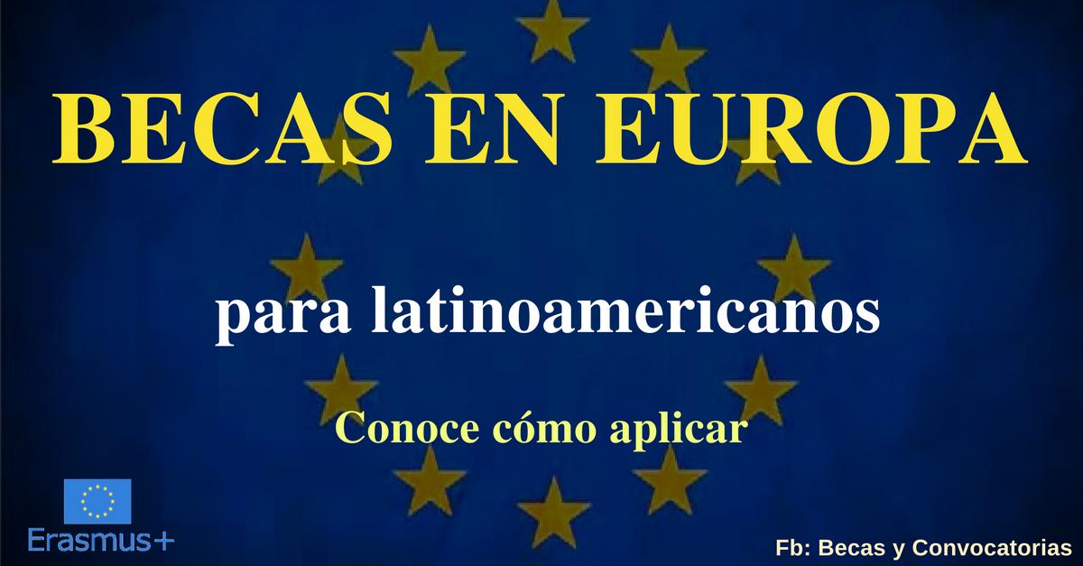 becas en europa para latinoamericanos