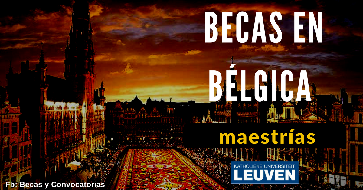maestrias y becas en belgica