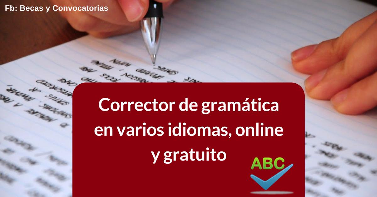 Corrector de escritura y gramática en inglés, español, francés y otros idiomas