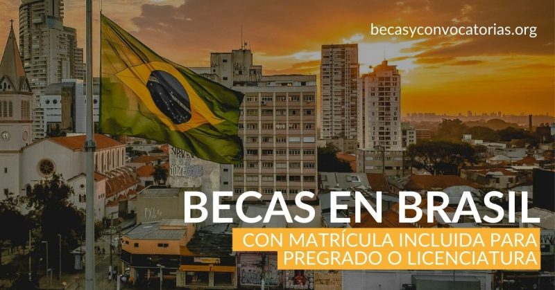 Becas de pregradolicenciatura en Brasil para estudiantes de América Latina en diferentes áreas