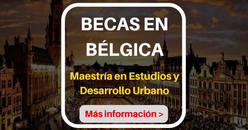 becas maestria en belgica