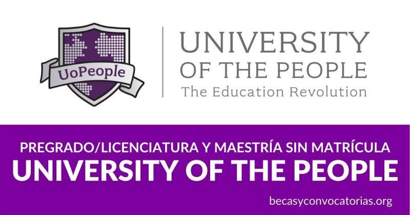 university of people información