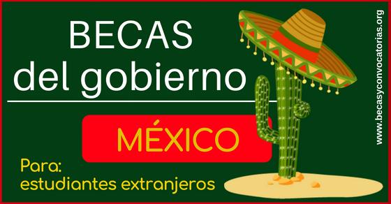 becas para extranjeros en México