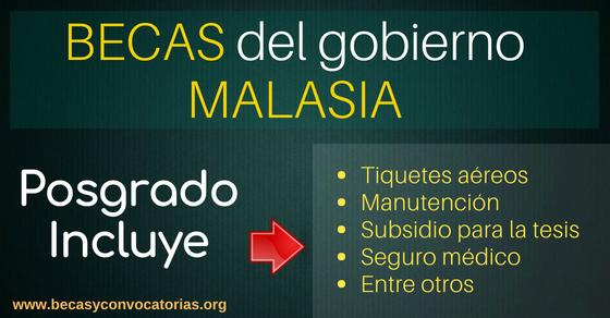 Becas del gobierno de Malasia para estudiantes de cualquier nacionalidad