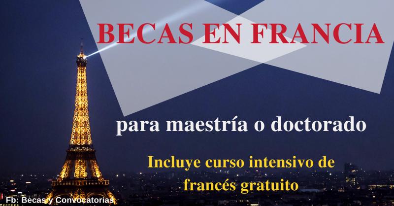 Curso de francés en Francia incluido en las becas para maestría y doctorado