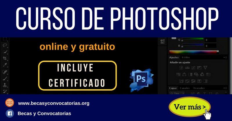 Curso de photoshop online gratis con certificado. Retoque de fotos y más