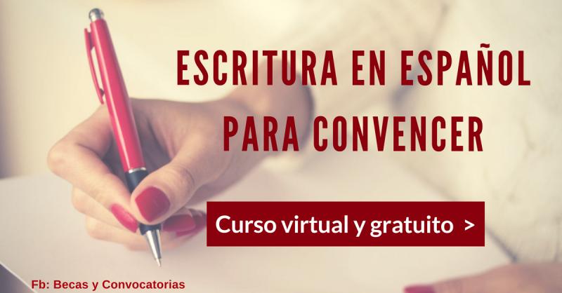 Curso de redacción y escritura de textos en español para estudiantes. Online