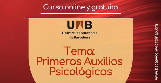 Curso virtual sobre Primeros Auxilios Psicológicos - U. Autónoma de Barcelona