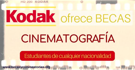 Kodak ofrece becas para estudiantes de cinematografía
