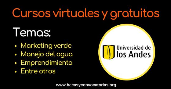 La Universidad de los Andes ofrece cursos virtuales y gratuitos
