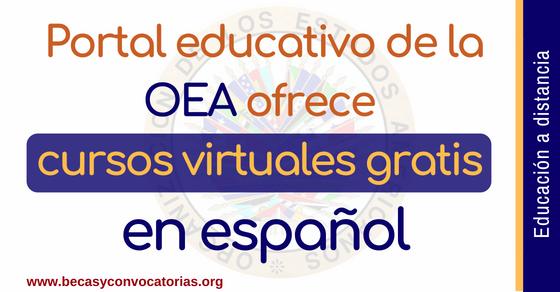 Portal educativo de la OEA ofrece cursos virtuales gratis en español