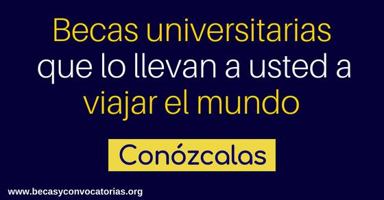 becas universitarias por el mundo