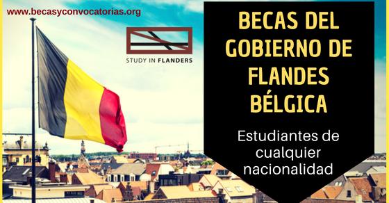 Becas del gobierno de Flandes Bélgica para estudiantes de cualquier nacionalidad