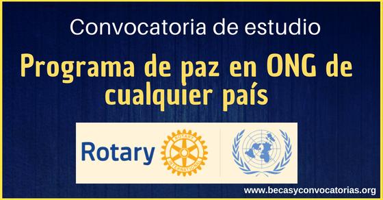 Convocatoria Rotary International para programa de paz en ONG de cualquier país