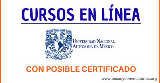 Cursos en línea UNAM gratuitos y en español con posible certificado