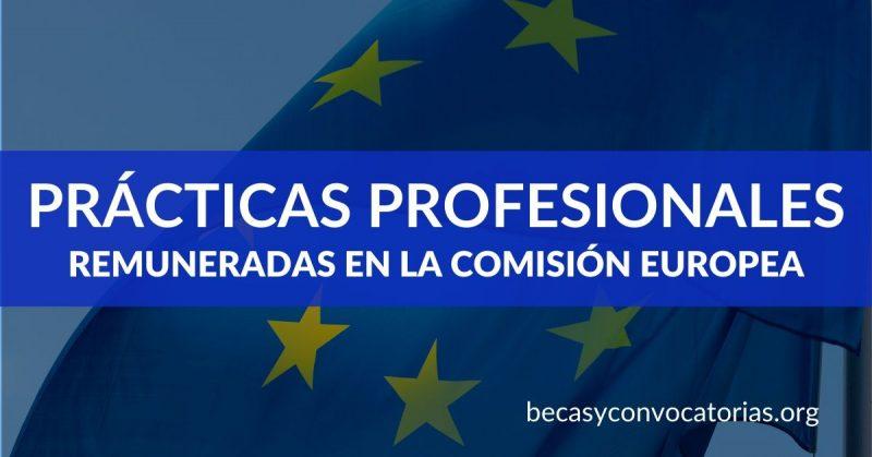 Prácticas profesionales remuneradas en la Comisión Europea