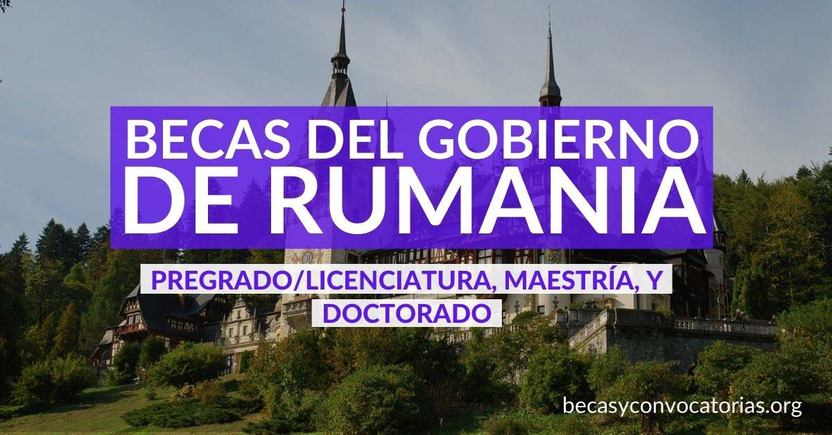 becas rumania pregrado posgrado
