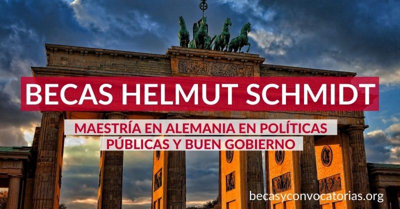 Becas Helmut Schmidt para maestrías en Alemania