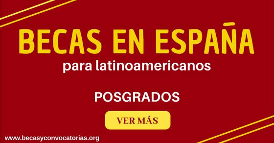 Becas para estudiar en España MAEC AECID dirigidas a latinoamericanos