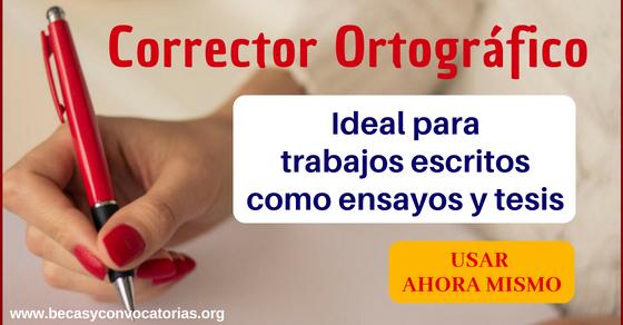 Corrector ortográfico español para revisar trabajos escritos como ensayos y tesis