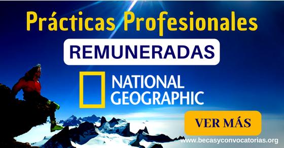 National Geographic prácticas profesionales