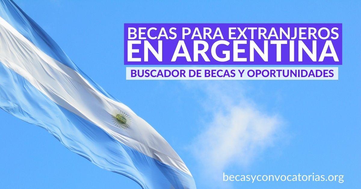 becas extranjeros argentina