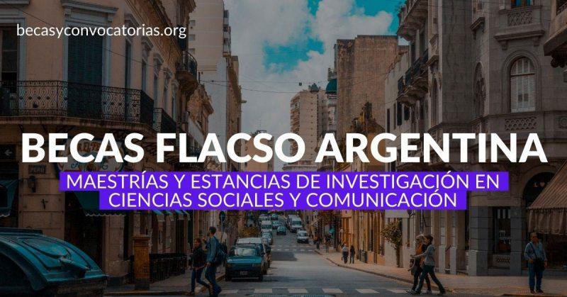 Becas FLACSO argentina maestrías