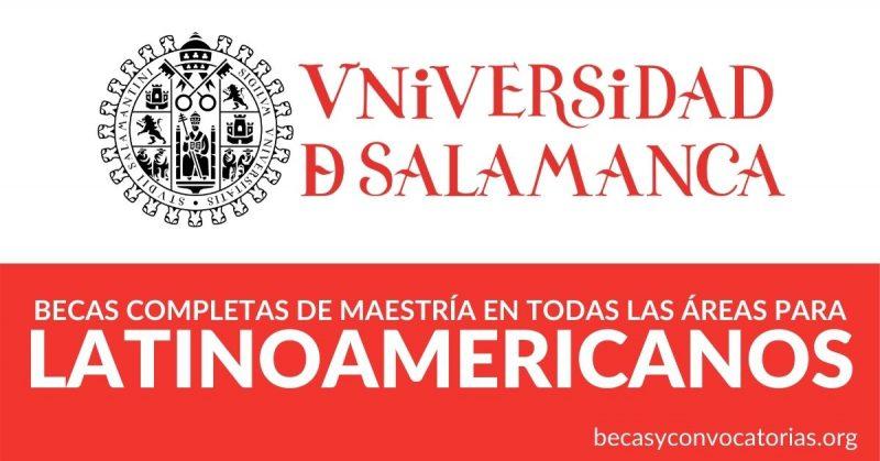 becas maestria latinoamericanos salamanca