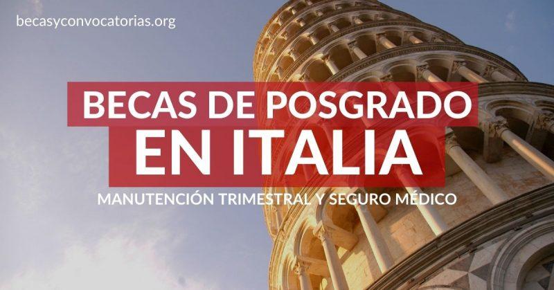 becas posgrado italia