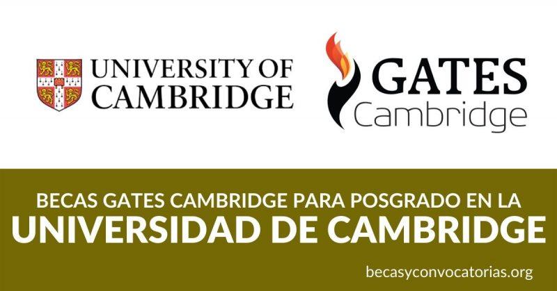 becas posgrado gates cambridge