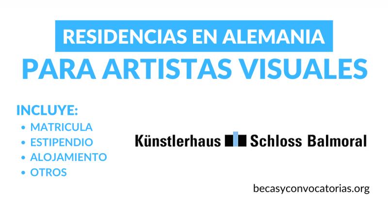 Residencias en Alemania para artistas visuales de cualquier nacionalidad