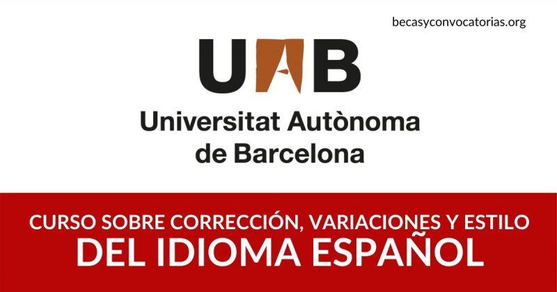 Curso en línea sobre corrección, estilo y variaciones del idioma español