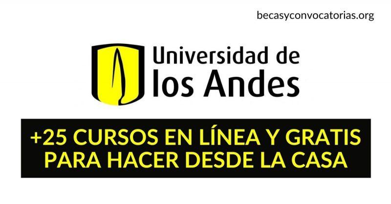 +25 cursos gratis y en español de la Universidad de los Andes