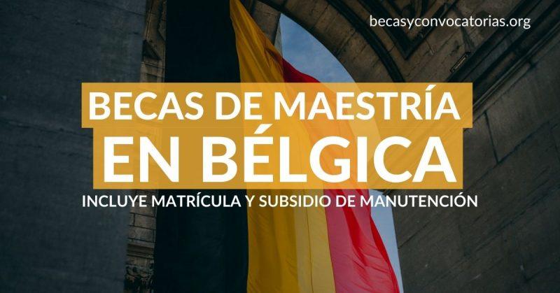 becas maestria belgica flandes