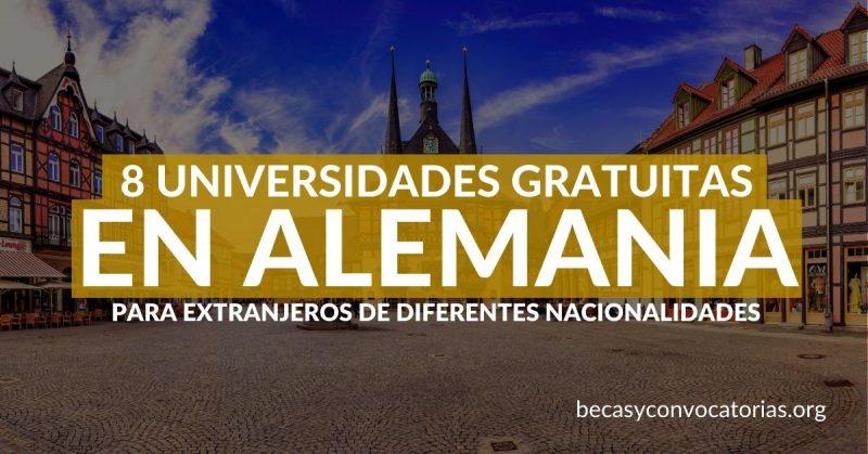 universidades alemanas gratuitas