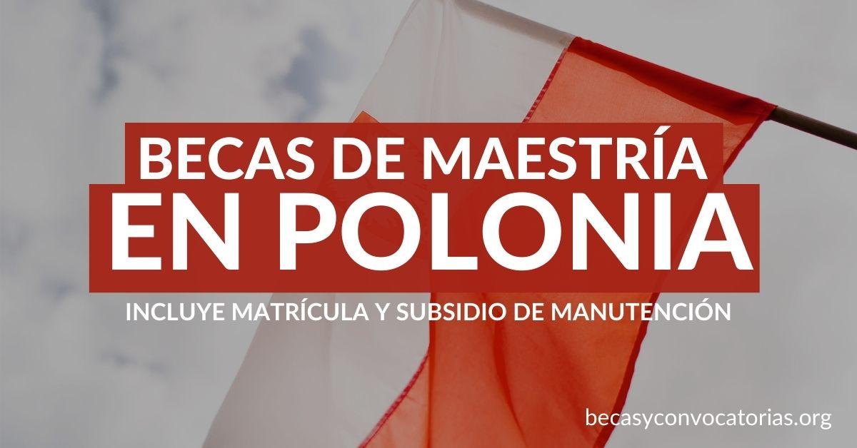 becas polonia maestria latinoamericanos