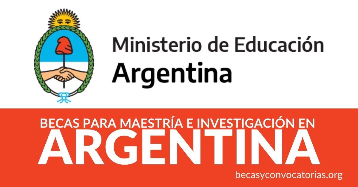 Becas argentina maestría estudiar